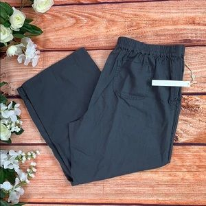 🆕 Cason Grey Linen Capri Pants NWT